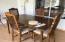 Furnished kitchen table in the Arizona Room