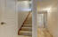 stairs to master 2nd floor, hall to main floor bedrooms