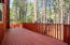 Entry Side Deck Area overlooking fenced in dog run