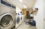 Laundry area in commercial office building