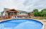 27 foot round salt water pool with external water heaters