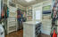 Master walk-in closet has wonderful built-ins and lots of space