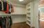 Custom shelving on both sides of Closet