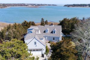 Ever-changing views are enjoyed from most rooms in this waterfront estate
