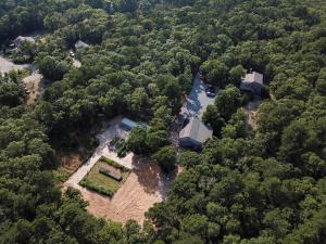 Aerial view of 159 Long Pond Drive