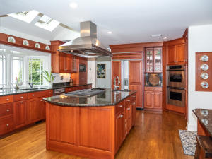 Cherry Cabinets provide ample storage space