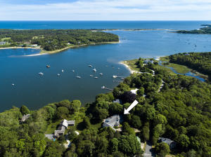 Spectacular views of Cotuit Bay out to Nantucket Sound