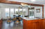 Combined kitchen and dining areas with magnificent views