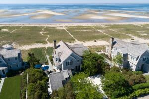 This spectacular home sits on the beach in Provincetown's East End.