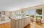 Gourmet kitchen with views