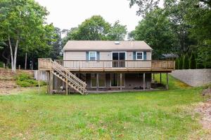 Wrap around deck with walk out basement.