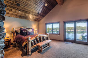 Private balcony in the large private master retreat upstairs, with fireplace and master suite