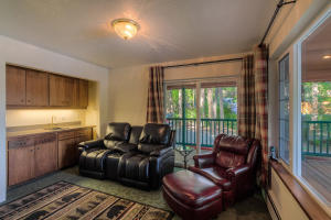 Built in bar area but could be a closet for a 4th bedroom, slider to deck, lake views!
