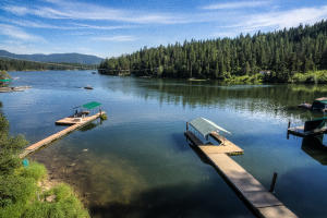 Your private dock, 200' frontage on 3 parcels and killer lake views