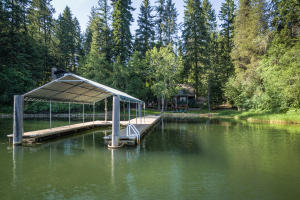 Tucked in a secluded cove but where all the fun is on Hayden Lake