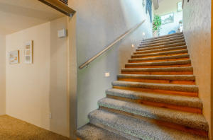 Home was built handicap accessible with a nice open wide 6 foot stairways and halls and a ramp in the back entry.