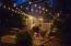 night ouside patio