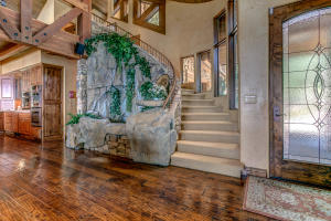 The focal point of the home's foyer