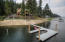 Brand new boat dock with approach ramp