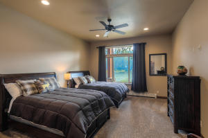 Lower level lake view, oversized bedroom 3