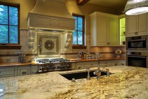 Waterstone faucet and granite counters