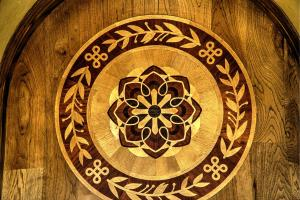 Custom designed floor medallion - art and beauty are everywhere