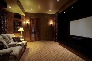 "Could be 5th bedroom w/media closet, large 100"" Screen, NEC projector, and Klipsch surround system-ready for the show!"