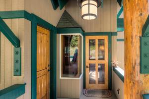 Enter the main door, or sneek in the mud room side door