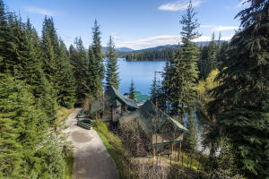 From the main house, cabin, patio, docks - you enjoy expansive lake views