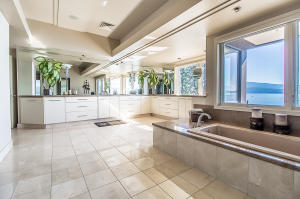 built in master tub with views