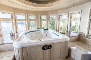 indoor outdoor hot tub room
