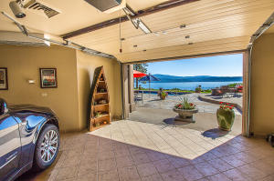 third car garage opens for entertaining