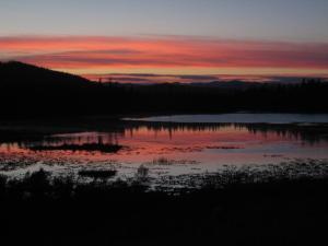 Sunset over Chase Lake