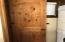 Hardwood Door into Bathroom