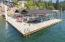 Oversized double slip dock with covers & boat lift