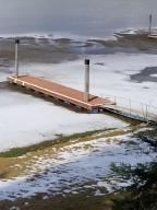 Dock with level beach/yard area
