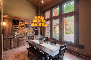 High vaulted ceilings, built-in buffet and cabinets, wine nooks, stylish lighting perfect for that special dinner party or every day dining!