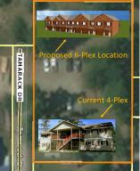 3-D Duplex and Pic of 4-Plex on Aerial