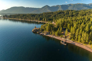 Lake Pend Oreille has incredibly varied and beautiful stretches of shoreline