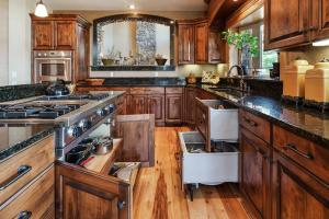 """Appliances are designed to be accessble but also pleasing to the eye. Double """"DishDrawers"""""""