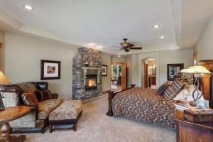 Spacious suite with covered porch access