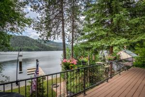 Amazing lake and mountain views form your private deck.