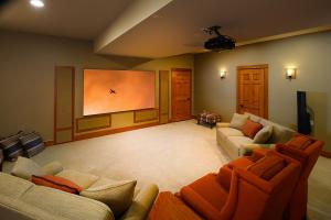 Theater in finished basement
