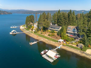 Arial of Lake View of Home