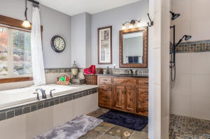 2 separate sinks and vanity area