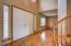 Enter onto beautiful Oak hardwood floors