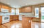 Nice new countertops and beautiful spacious kitchen