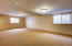 Nice large family room in daylight basement