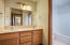 Nice upstairs bathroom with separate shower/toilet area