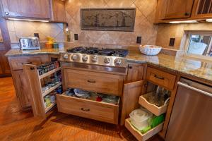 Hickory Flint Wood cabinets